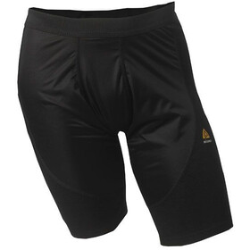 Aclima M's Warmwool Long Shorts with Windstop Jet Black